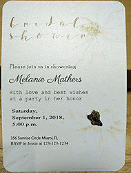 cheap -Flat Card Wedding Invitations 50 pcs - Invitation Cards Artistic Style Pearl Paper