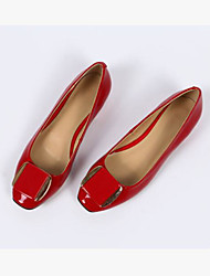 cheap -Women's Shoes PU Spring Comfort Flats for Casual Black Dark Blue Light Purple Red Almond