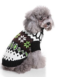 preiswerte -Katze Hund Pullover Hundekleidung Einfarbig Schwarz Acrylfasern Kostüm Für Haustiere Herrn Damen Lässig/Alltäglich Lolita Neujahr