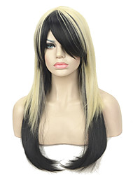 cheap -Synthetic Wig Straight With Bangs Synthetic Hair Black Wig Women's Long Capless