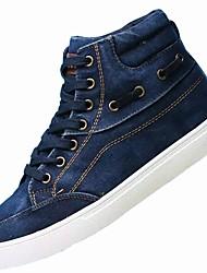 preiswerte -Herrn Schuhe Denim Jeans Leinwand Winter Komfort Sneakers für Normal Schwarz Grau Blau