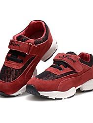 Недорогие -Девочки Обувь Кожа Зима Удобная обувь На плокой подошве На липучках для Повседневные на открытом воздухе Красный Синий