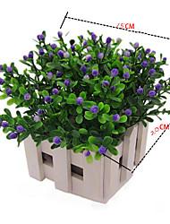 economico -22 cm 6 pezzi mini 6 colorsplastic milan grain fiori decorazione della casa fiori artificiali