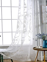 Pencil Pleat Double Pleat Grommet Top Curtain Country , Solid Living Room Linen Material Sheer Curtains Shades Home Decoration For Window