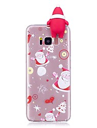 cheap -Case For Samsung Galaxy S8 Plus S8 Shockproof Back Cover 3D Cartoon Christmas Soft TPU for S8 Plus S8 S7 edge S7