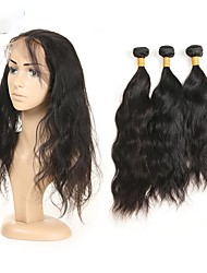 baratos -3 pacotes Cabelo Peruviano Ondulado Natural Cabelo Remy Cabelo Humano Ondulado Tramas de cabelo humano Extensões de cabelo humano