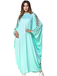 cheap -Women's Tunic Dress - Solid Colored Maxi