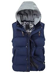 cheap -Men's Going out Cotton Vest - Solid Colored Block