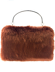 cheap -Women's Bags Fur Evening Bag Feathers / Fur Maroon
