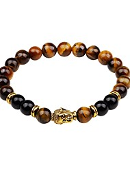 cheap -Men's Strand Bracelet Onyx Multi-stone Fashion Korean Agate Circle Jewelry Gift Daily Costume Jewelry Black Brown Green