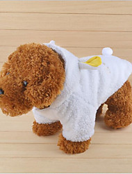 cheap -Cat Dog Coat Hoodie Dog Clothes Casual/Daily Keep Warm Letter & Number White Costume For Pets