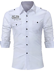 cheap -Men's Daily Vintage Shirt,Floral Shirt Collar Long Sleeves Cotton