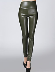 cheap -Women's Skinny Pants - Solid High Rise