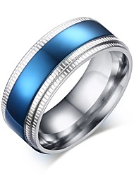cheap -Men's Band Ring - Stainless Steel European, Fashion 8 / 9 / 10 Blue For Date / Street