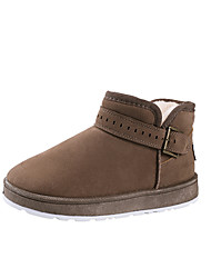 cheap -Women's Shoes Fabric Winter Fall Comfort Boots Flat Heel Booties/Ankle Boots for Casual Black Brown Khaki