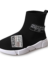 cheap -Women's Shoes PU Winter Fall Light Soles Sneakers Round Toe For Athletic Black