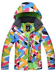 Недорогие -Детские Лыжная куртка Теплый Водонепроницаемость Воздухопроницаемость Катание на лыжах Сноубординг Лыжи Хлопок Экологичность Полиэстер