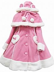 Недорогие -Сладкое детство Принцесса Шерсть Жен. Взрослые Девочки Пальто Косплей Розовый Черный Белый Длинный рукав