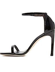 preiswerte -Damen Schuhe Kunstleder Frühling Sommer Pumps Sandalen Stöckelabsatz Peep Toe Runde Zehe Offene Spitze Schnalle für Kleid Party &
