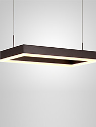 cheap -Northern Europe Post Modern LED Pendant Light 32W Rectangle Metal Living Room Dining Room Bedroom