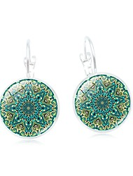 cheap -Women's Drop Earrings Classic Vintage Copper Glass Circle Jewelry For Daily