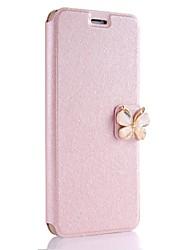 Недорогие -Кейс для Назначение Apple iPhone X iPhone 8 Plus Бумажник для карт Чехол Сплошной цвет Бабочка Твердый Кожа PU для iPhone X iPhone 8