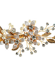 cheap -Rhinestone Alloy Flowers Hats Hair Clip with Faux Pearl 1pc Wedding Special Occasion Birthday Party / Evening Headpiece