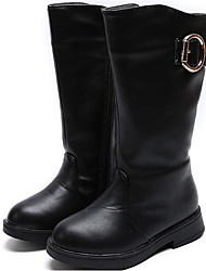 cheap -Girls' Shoes Leatherette Fall Winter Comfort Snow Boots Boots For Casual Red Black