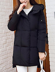 Women's Padded Coat,Cute Casual Going out To-Go Solid-Polyester Long Pant