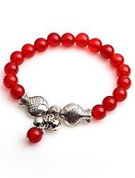 cheap -Women's Onyx Strand Bracelet - Animals Fashion Circle Red Bracelet For Gift Daily
