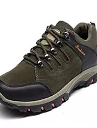 Men's Shoes Leather Spring Fall Light Soles Athletic Shoes Hiking Shoes Lace-up For Casual Black Gray Army Green