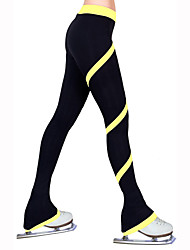 cheap -Figure Skating Pants Women's Girls' Ice Skating Tights Bottoms Rose Red Red Blue Light Blue Light Pink High Elasticity Practise Skating