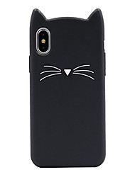 abordables -Coque Pour Apple iPhone X iPhone 8 Motif Coque Chat Bande dessinée Flexible Silicone pour iPhone X iPhone 8 Plus iPhone 8 iPhone 7 Plus