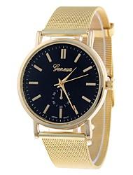 baratos -NAVIFORCE Mulheres Relógio de Pulso Chinês Relógio Casual Lega Banda Casual / Fashion / Relógio Elegante Dourada / Um ano