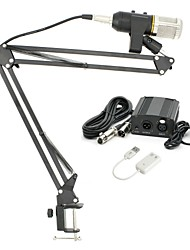 baratos -KEBTYVOR MK-F200TL Com Fio Microfone Conjuntos Microfone Condensador De Pressão Para Computadores e Notebooks