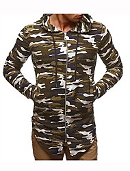 cheap -Men's Running Jacket Long Sleeves Stretchy Hoodie for Running/Jogging Leisure Sports Cotton Slim Grey Green Army Green Black White XXXL