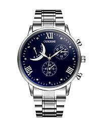 Недорогие -Муж. Модные часы Наручные часы Китайский Кварцевый Крупный циферблат Нержавеющая сталь Группа На каждый день Серебристый металл