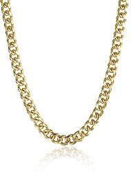 Недорогие -Жен. Гипоаллергенный Позолота Ожерелья-цепочки - Медь Позолота Сплав Гипоаллергенный Мода Милая Геометрической формы нерегулярный