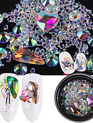 cheap -Ornaments Rhinestones Nail Jewelry Crystal Gems Crystal Beads Jewelry Kits Rhinestone Elegant & Luxurious Sparkle & Shine Crystal