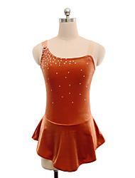 abordables -Robe de Patinage Artistique Femme / Fille Patinage Robes Marron Spandex Non Elastique Utilisation / Exercice Tenue de Patinage Couleur