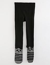 abordables -Pantalones Chica Un Color A Lunares A Rayas Algodón Invierno Otoño Negro Gris