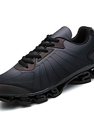 cheap -Men's Rubber Spring / Fall Comfort Athletic Shoes Walking Shoes Booties / Ankle Boots Black / Red / Blue