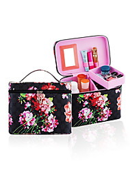 cheap -Cosmetic Bag Cosmetic Box Makeup Storage Floral Special Design Others Plastics PU Leather