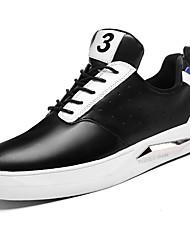 baratos -Homens sapatos Micofibra Sintética PU Couro Ecológico Courino Primavera Outono Conforto Tênis para Casual Preto Branco/Preto Black / azul
