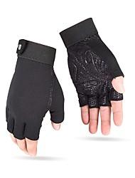 Недорогие -Спортивные перчатки Перчатки для велосипедистов Пригодно для носки / Дышащий Без пальцев Нетканая / Силиконовые / Синтетическое волокно