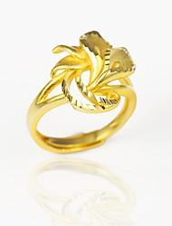 preiswerte -Damen Stulpring , Gold vergoldet Blume Blumig Retro Hochzeit Verlobung Modeschmuck