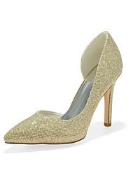 preiswerte -Damen Schuhe Glitzer Frühling Sommer Pumps High Heels Stöckelabsatz Spitze Zehe für Kleid Party & Festivität Gold Schwarz Silber