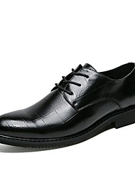cheap -Men's Shoes PU Spring / Fall Comfort / Formal Shoes Oxfords Black / Brown / Party & Evening