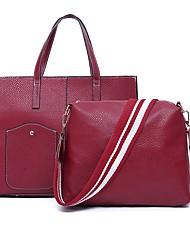 economico -Donna Sacchetti PU (Poliuretano) sacchetto regola Set di borsa da 2 pezzi Cerniera per Tutte le stagioni Blu Nero Rosso Marrone