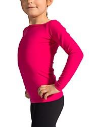 baratos -Top para Patinação Artística Mulheres / Para Meninas Patinação no Gelo Blusas Fúcsia Elastano Com Stretch Espetáculo / Praticar Roupa